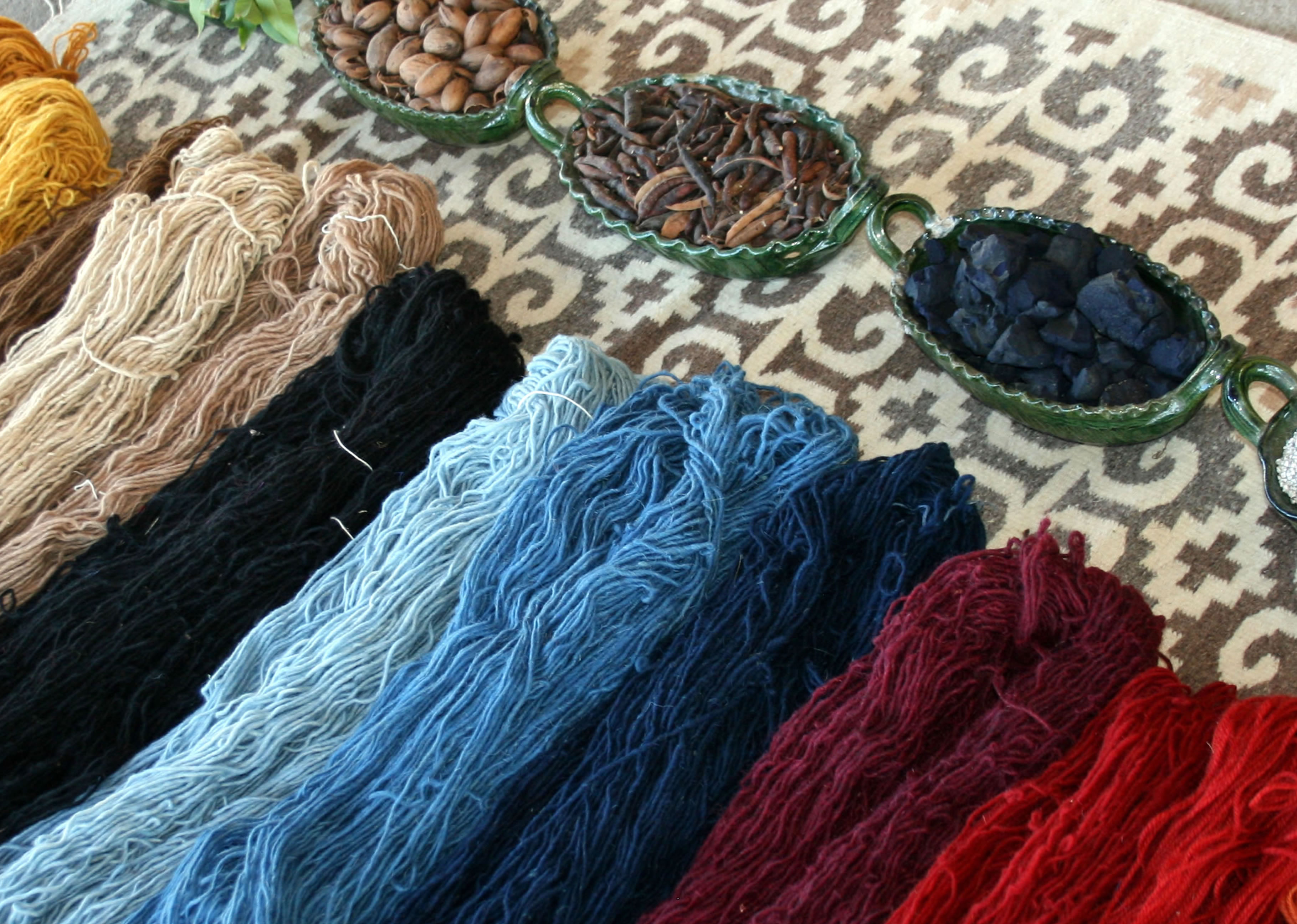 The weaving process - Rugs from Teotitlan